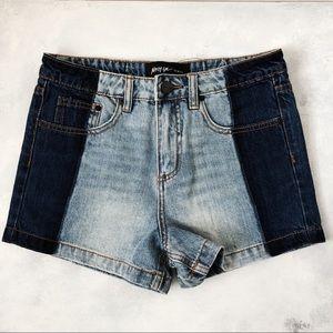 Nasty Gal Two Tone Denim Shorts